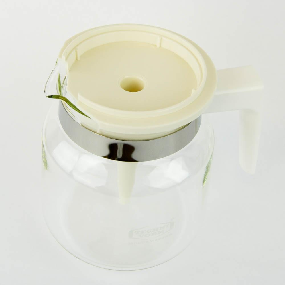 Kaffemaskine, glaskande - Hvid, 1,25 L - MOCCAMASTER